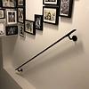 Handlauf schwarz beschichtet viereckig 40x10 Modell 3 - Rechteckige Treppengeländer - Treppenhandlauf mit schwarzer Pulverbeschichtung RAL 9005