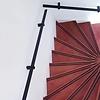 Handlauf schwarz beschichtet viereckig 40x10 Modell 13 - Rechteckige Treppengeländer - Treppenhandlauf mit schwarzer Pulverbeschichtung RAL 9005
