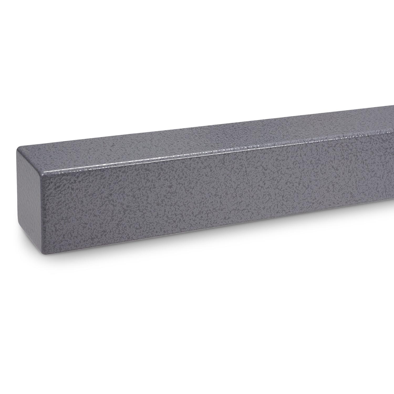 Handlauf Hammerschlag Optik beschichtet viereckig 40x40 - Rechteckige Treppengeländer - Treppenhandlauf mit grauem Hammerschlag Pulverbeschichtung