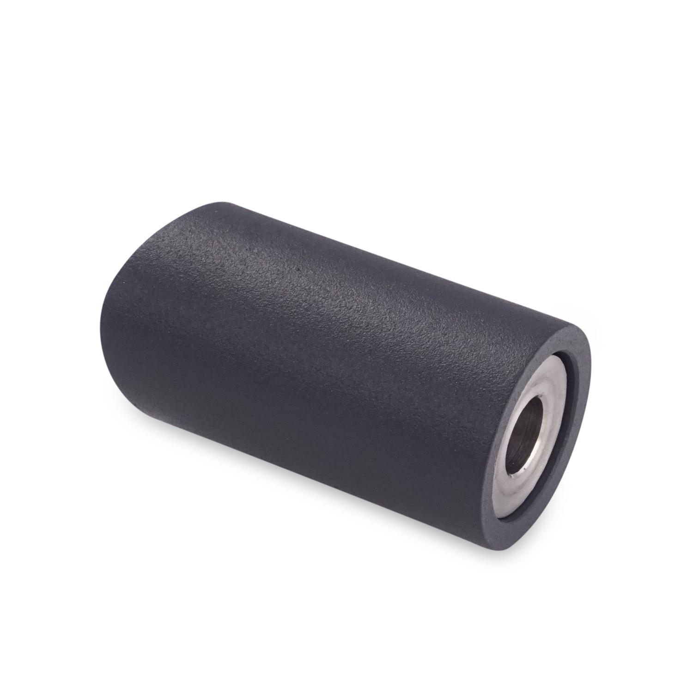 Handlaufhalter anthrazit beschichtet Type 14 rund - Handlauf Halterung - Handlaufträger mit anthrazitgrauer Pulverbeschichtung RAL 7016