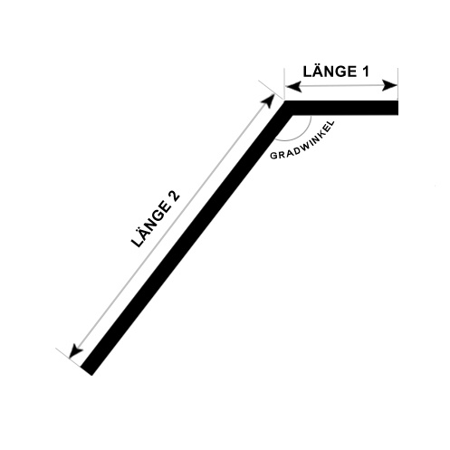 Einzelgehrungswinkel (oben oder unten) - Handlauf beschichtet