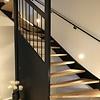 Handlauf schwarz beschichtet viereckig 40x20 Modell 11 - Rechteckige Treppengeländer - Treppenhandlauf mit schwarzer Pulverbeschichtung RAL 9005