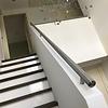 Handlauf Edelstahl rund gebürstet Modell 14 - Runde Edelstahl Treppengeländer - Treppenhandlauf
