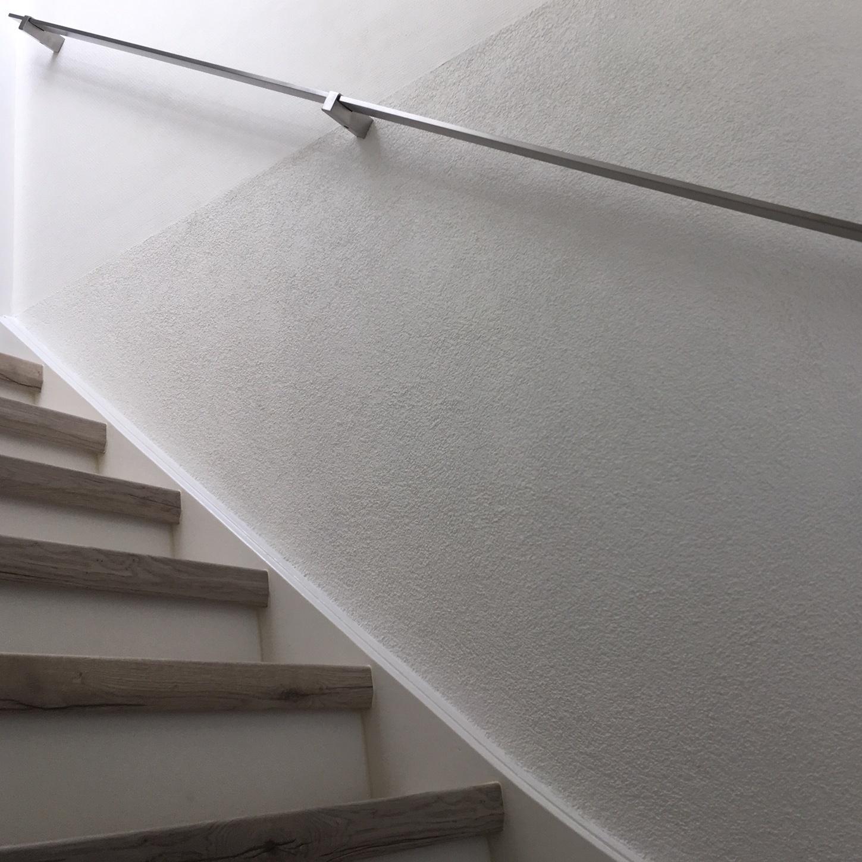 Handlauf Edelstahl viereckig 40x10 gebürstet Modell 13 - Rechteckige Edelstahl Treppengeländer - Treppenhandlauf