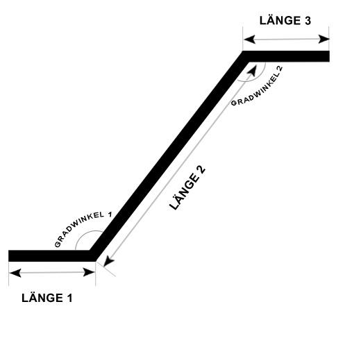 Doppelgehrungswinkel (oben und unten)  - Handlauf beschichtet