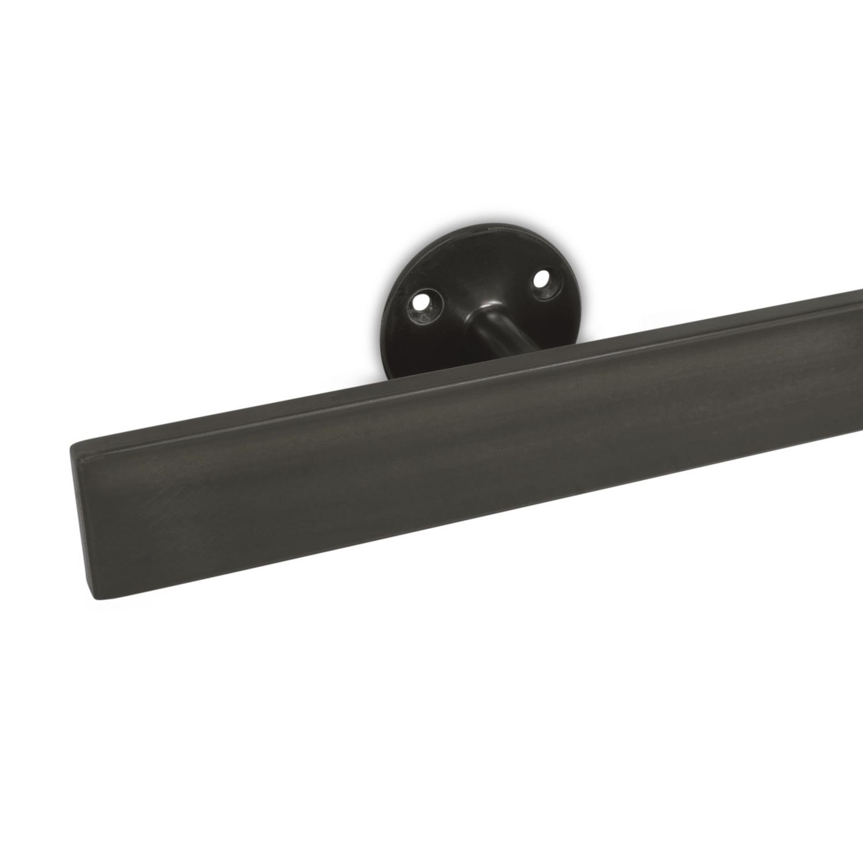 Handlauf Gunmetal Optik beschichtet viereckig 40x10 Modell 4 - Rechteckige Treppengeländer - Treppenhandlauf mit Gun Metal Look Pulverbeschichtung