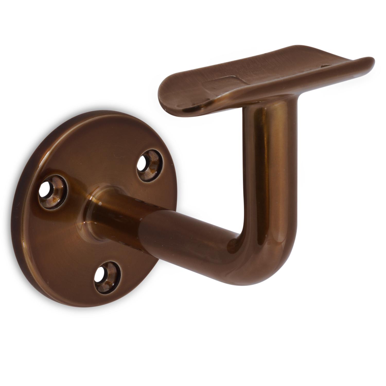 Handlauf Bronze Optik beschichtet rund schmal Modell 1 - Runde Treppengeländer - Treppenhandlauf Bronze - Gold - Messing Pulverbeschichtung