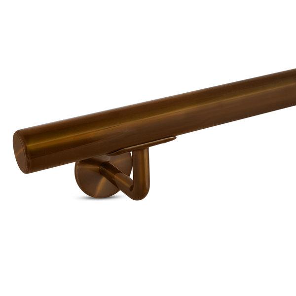 Handlauf Bronze Optik beschichtet rund schmal Modell 3