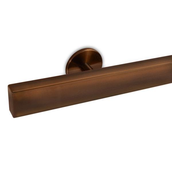 Handlauf Bronze Optik beschichtet viereckig 40x20 Modell 5