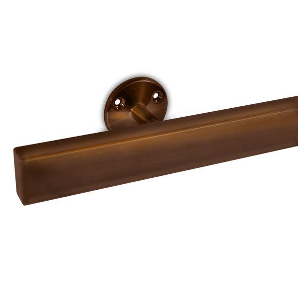 Handlauf Bronze Optik beschichtet viereckig 40x20 Modell 4