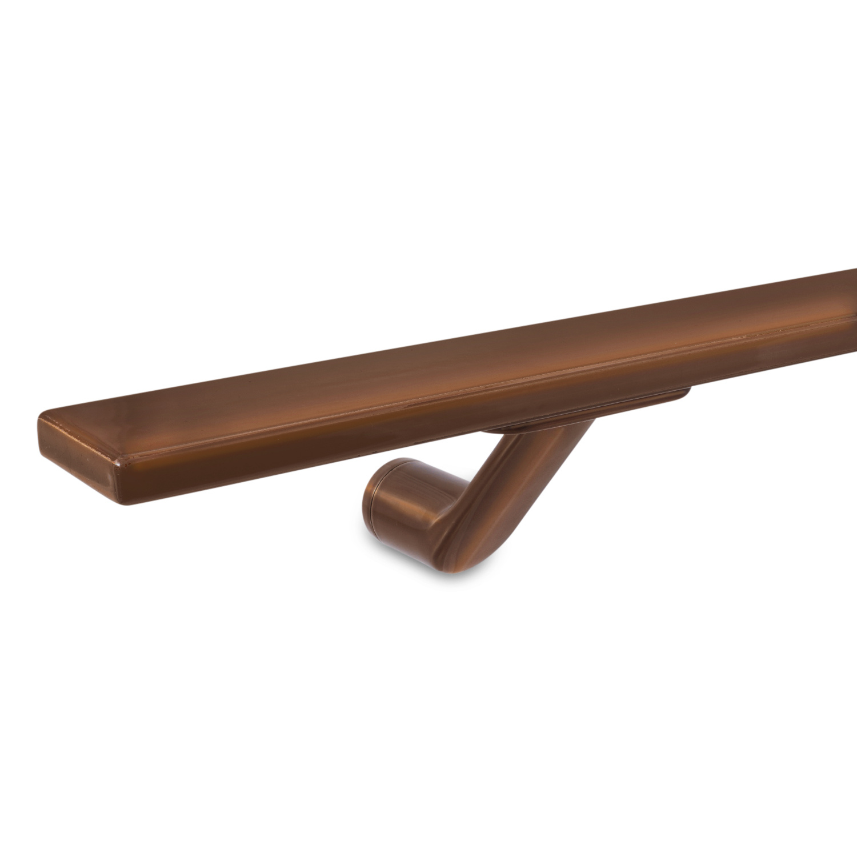 Handlauf Bronze Optik beschichtet viereckig 40x10 Modell 7 - Rechteckige Treppengeländer - Treppenhandlauf mit Bronze - Gold - Messing Pulverbeschichtung