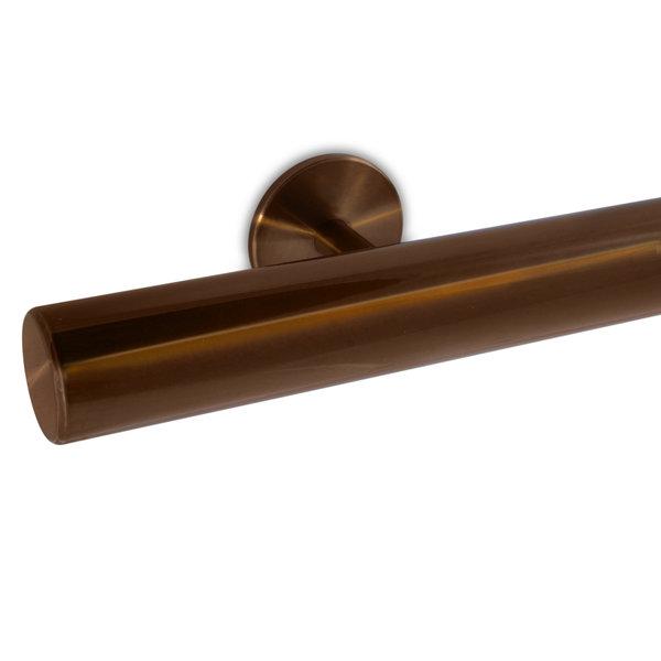 Handlauf Bronze Optik beschichtet rund Modell 5