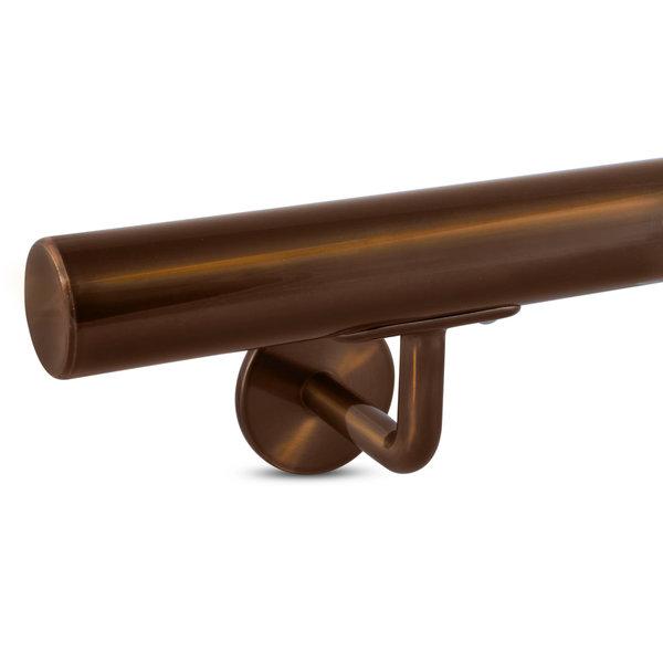 Handlauf Bronze Optik beschichtet rund Modell 3