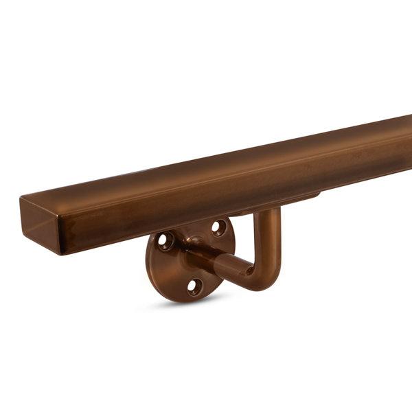 Handlauf Bronze Optik viereckig 40x20 Modell 1