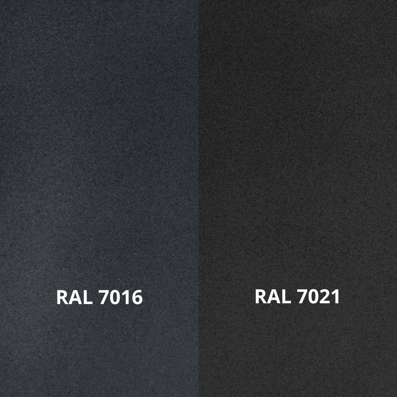 Handlauf anthrazit beschichtet - für Draußen - rund Modell 3 - Runde Treppengeländer - Treppenhandlauf mit anthrazitgrauer Pulverbeschichtung