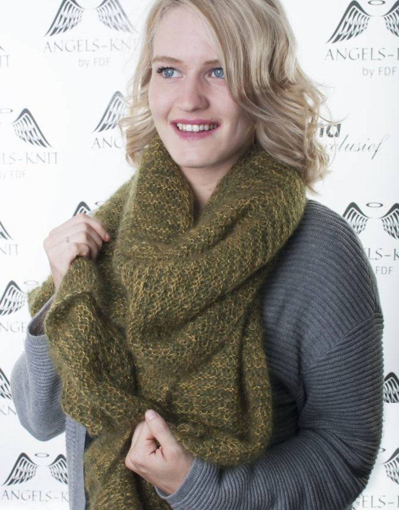 Angels-Knit by FDF 100% handmade Grenila sjaal mohair