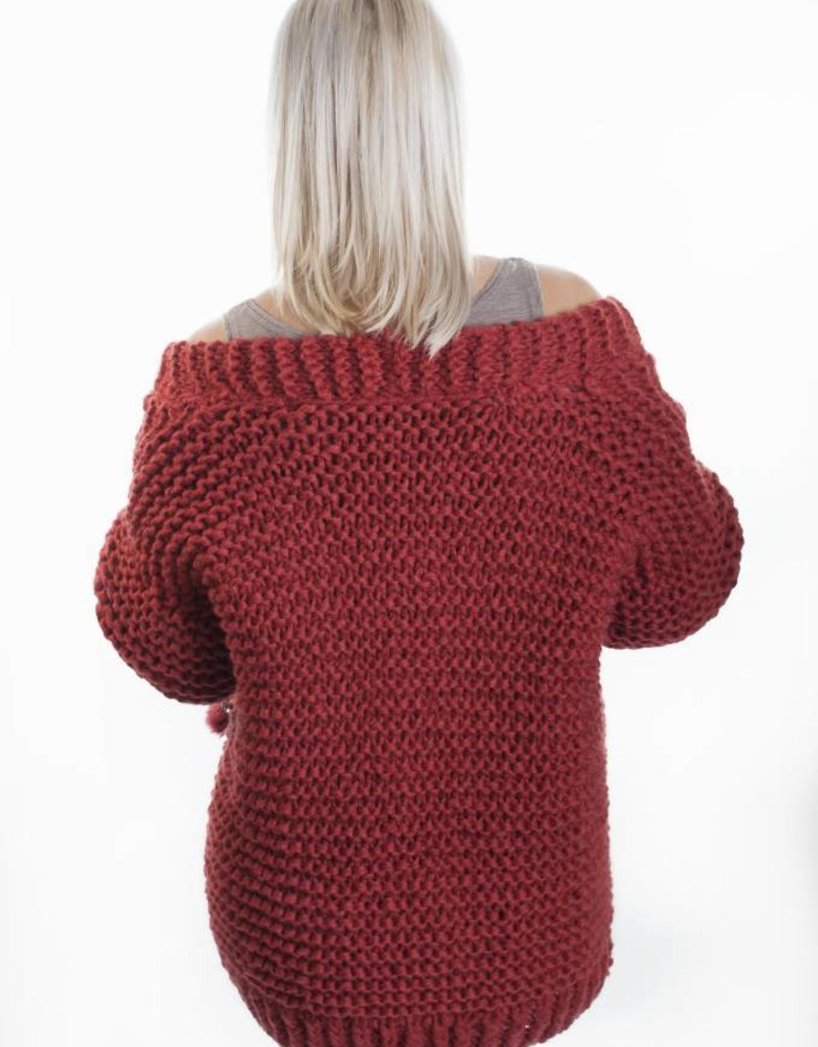 Angels-Knit by FDF 100% handmade Breipakket  Inge Cardigan Roest