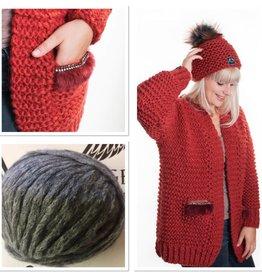 Angels-Knit by FDF 100% handmade Breipakket Inge grijs