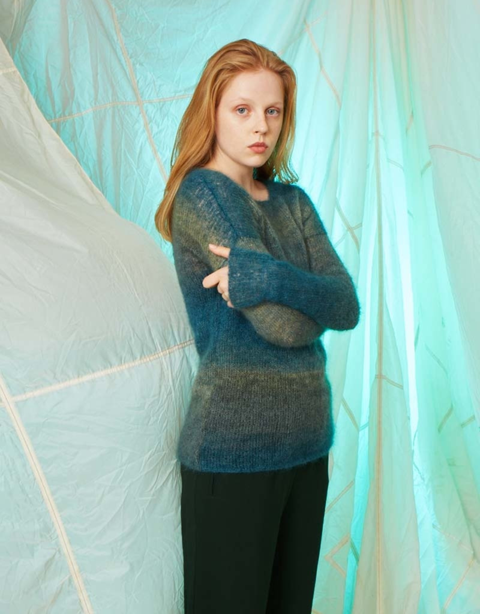 Angels-Knit by FDF 100% handmade Breipakket Trui Mohair Luxe Color S/M