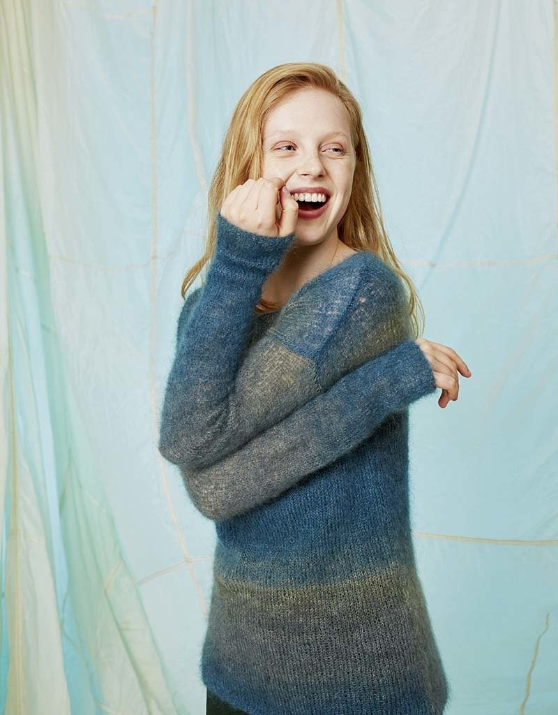 Angels-Knit by FDF 100% handmade Breipakket Trui Mohair Luxe Color  L/XL