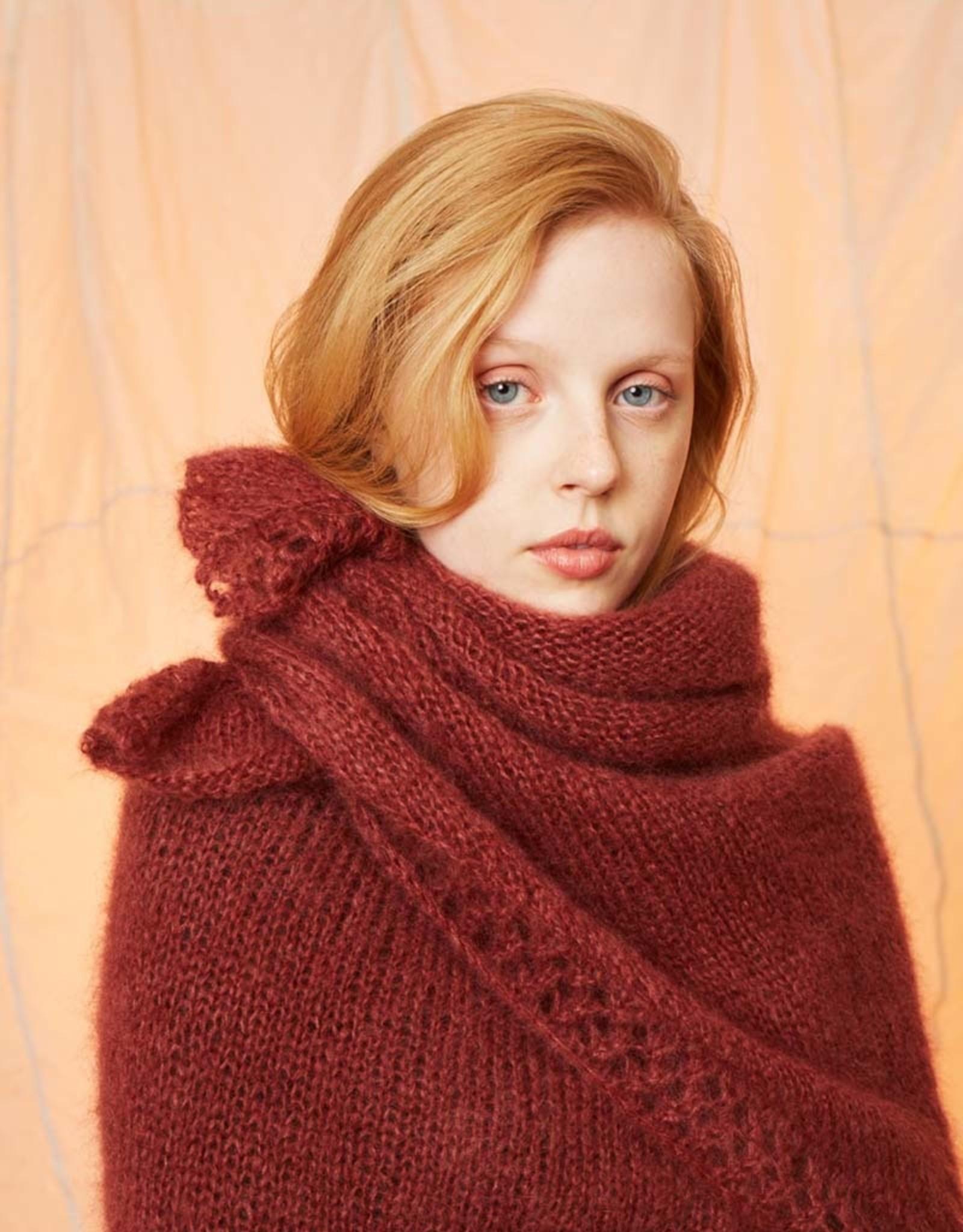 Angels-Knit by FDF 100% handmade Breipakket Driehoekige Sjaal Mohair 0062