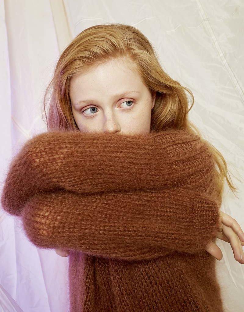 Angels-Knit by FDF 100% handmade Breipakket Trui Mohair - Medium
