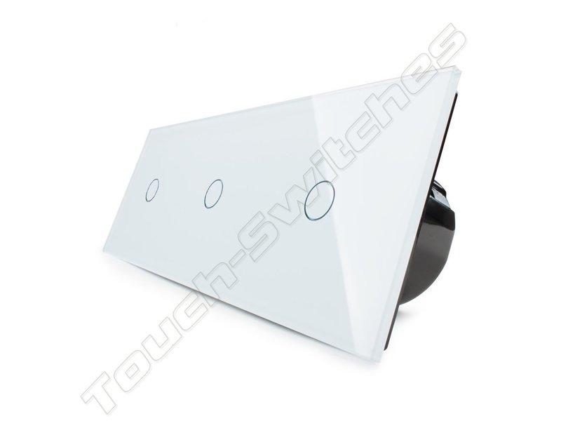 Design Touch Schakelaar | 3 x Enkelpolig | 3 Raams