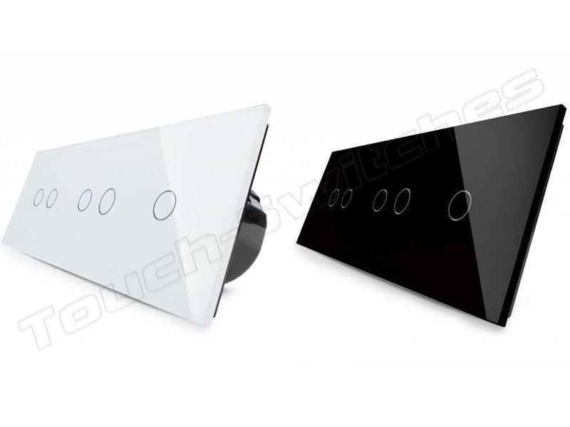 Design Touch Schakelaar | 2 x Serie + Enkelpolig | 3 Raams