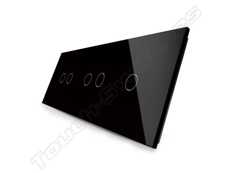 Design Touch-Schalter | 2 x 2-Polig + 1-Polig | 3 Fach