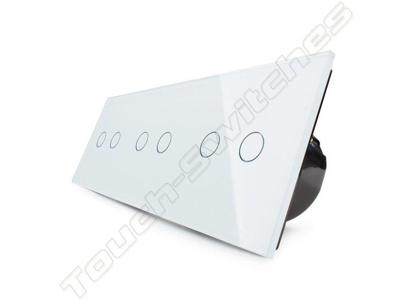 Design Touch-Schalter   3 x 2-Polig   3 Fach