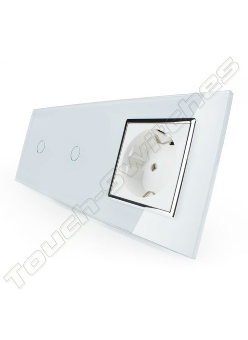 Touch Switch | 2 x 1-Gang + EU Socket
