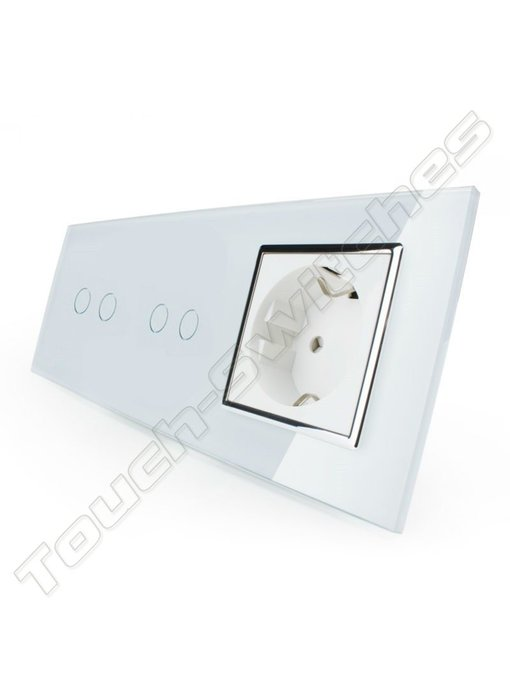Touch-Schalter | 2 x 2-Polig + EU Steckdose