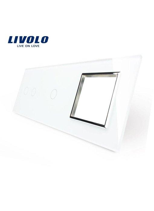 Livolo Glass Panel | 2-Gang + 1-Gang + Module/Socket