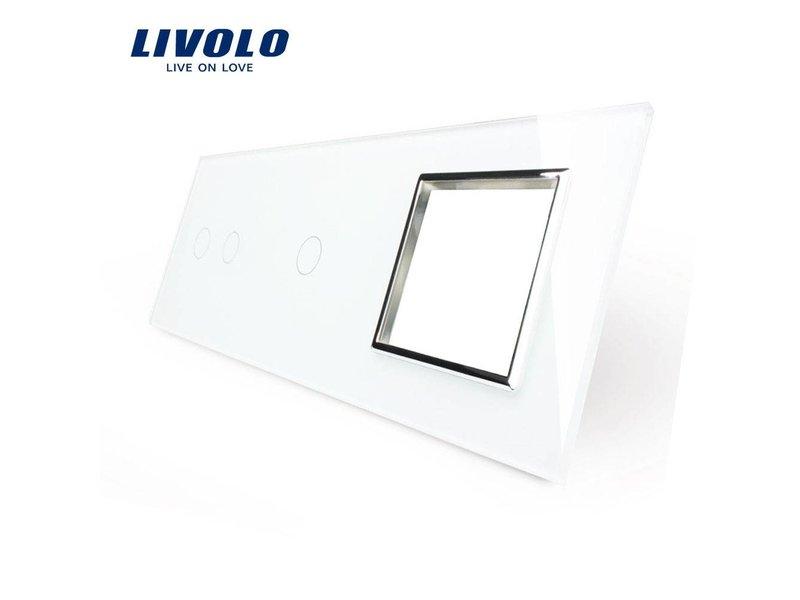 Design Glass Panel | 2-Gang + 1-Gang + Module/Socket | 3 Hole