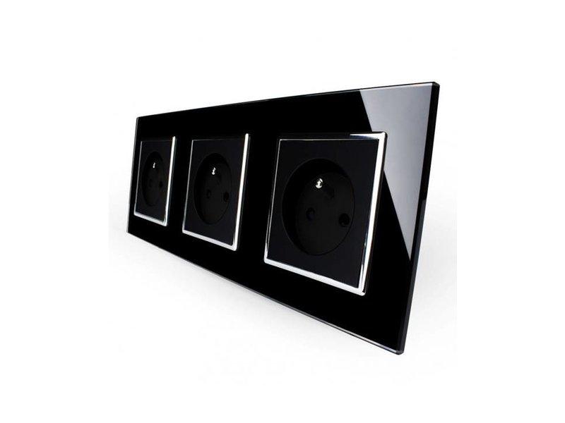 Livolo Design Wandcontactdoos | Drievoudig | 3 Raams | FR
