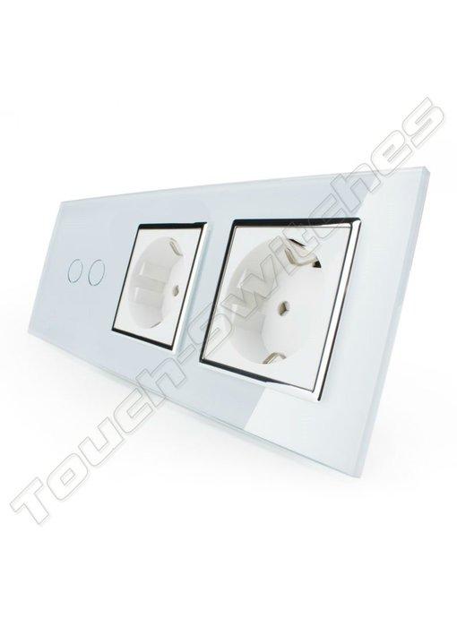 Livolo Touch Switch | 2-Gang + 2 x EU Socket