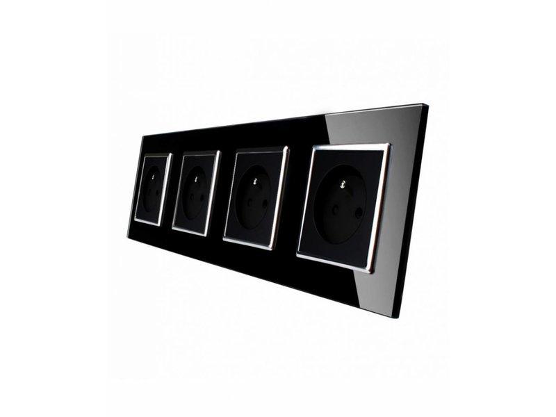 Livolo Design Steckdose | Vierfach | FR