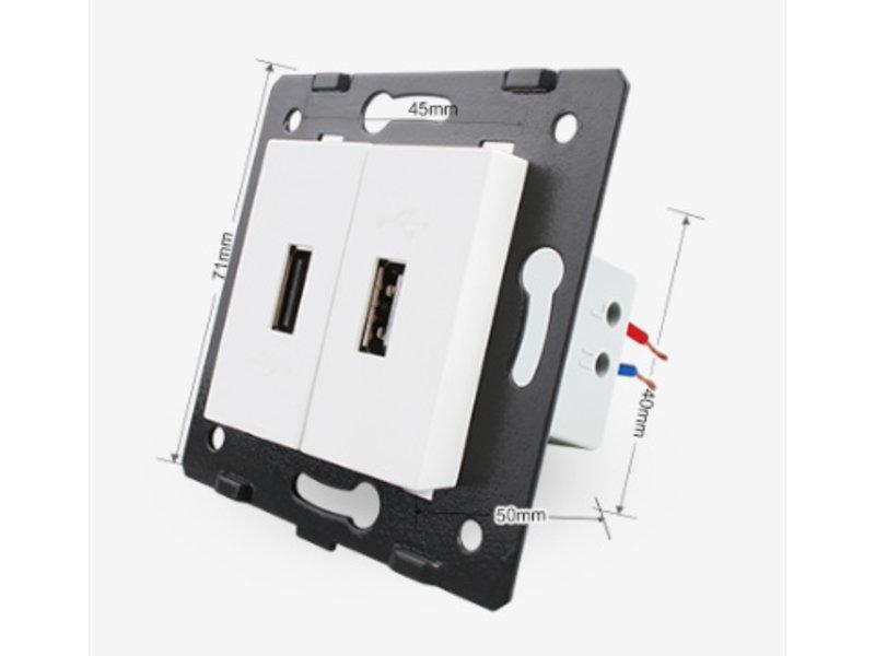 2 X Design USB Module | 5V 2100 Mah | 1 Hole