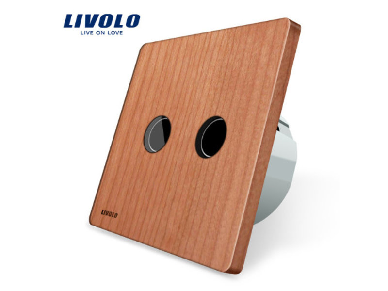 Livolo Design Touch Switch | 2-gang 1-way  | 1 Hole