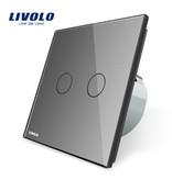 Design Touch-Schalter   Zweipolig + Wechsel   2-polig   1 Fach