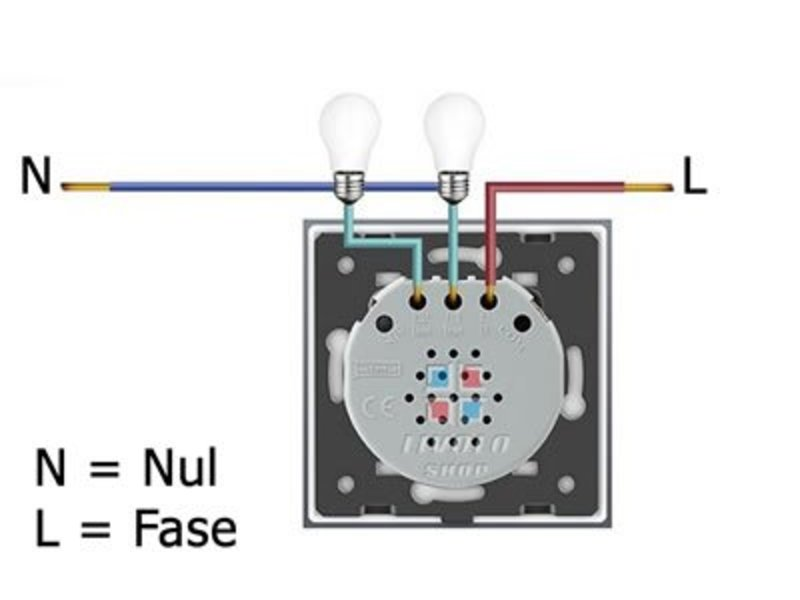 Design Touch-Schalter | Zweipolig + Wechsel | 2-polig | 1 Fach