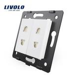 Livolo Design Module | 2 X Socket Module | Single | 1 Hole