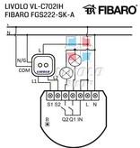 Design Touch Schakelaar Module | Serie | Geschikt voor Fibaro | 2-polig | 1 Raam