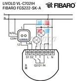 Livolo Design Touch Switch | 2Gang 1Way | Suitable for Fibaro | 1 Hole