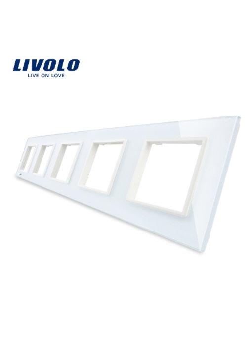 Livolo Glasplatte | 5 x Modul/Steckdose