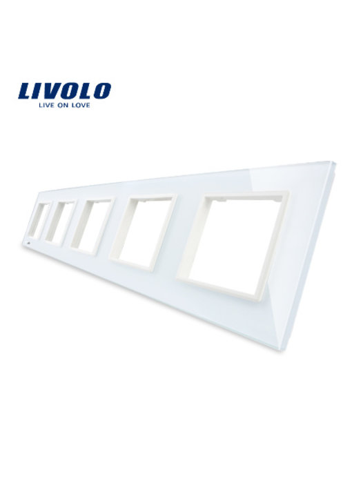 Livolo Glass Panel | 5 x Module/Socket