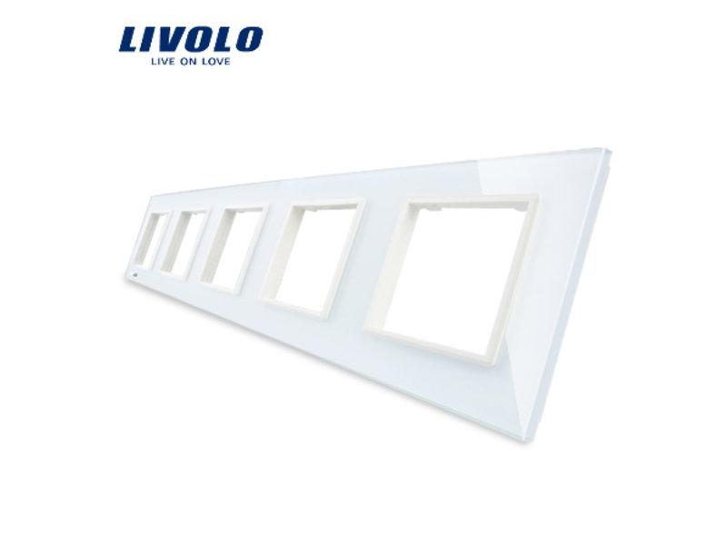 Livolo Design Glaspaneel | 5 x Module/Wandcontactdoos | 5 Raams