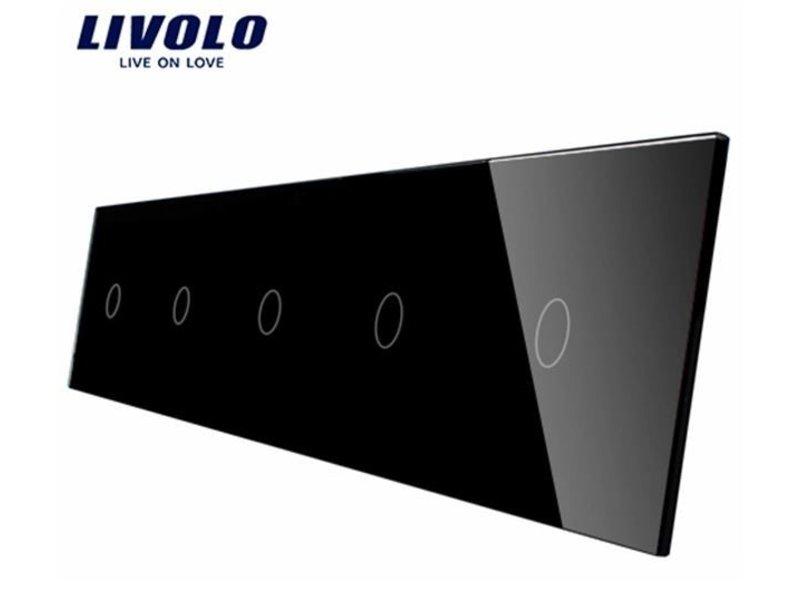 Livolo Design Glasplatte | 5 x 1-Polig | 5 Fach