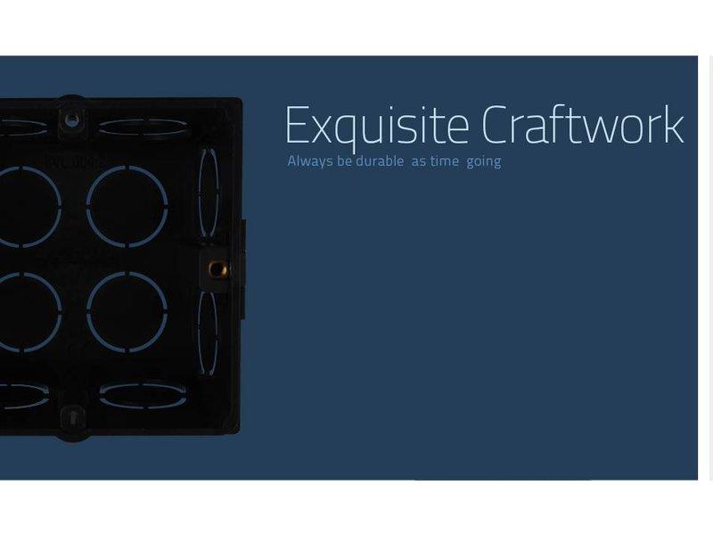 Livolo | Inbouwdoos | EU | 74mm x 71mm | koppelbaar