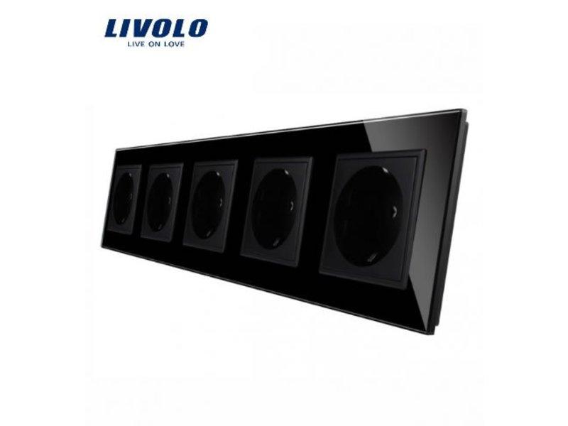 Livolo Design Wandcontactdoos | Vijfvoudig | 5 Raams | EU